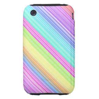 Colorful Stripes Tough iPhone 3 Cases