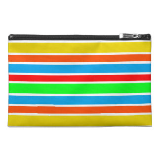 Colorful Stripes Travel Accessory Bag