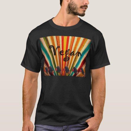 Colorful Stripes Vegan Raspberries T-Shirt