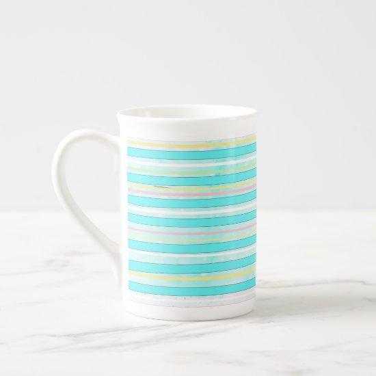 Colorful Stripes Whimsical Modern Winter Holiday Bone China Mug