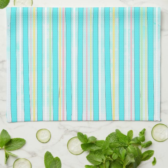 Colorful Stripes Whimsical Modern Winter Holiday Hand Towel