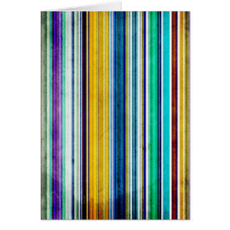 Colorful Stripes With Texture Card