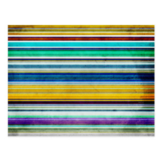 Colorful Stripes With Texture Postcard