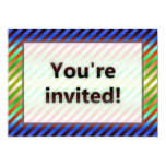 Colorful Stripes You're Invited Red Light 5x7 Paper Invitation Card