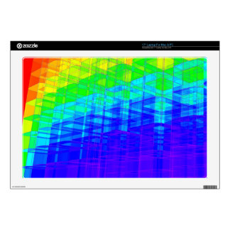 """Colorful Structures: 17"""" Laptop Decal"""