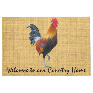 Colorful Strutting Rooster / Country Home Door Mat