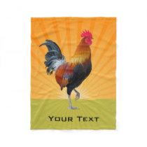 Colorful Strutting Rooster Design Fleece Blanket