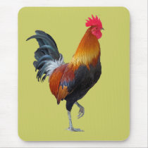 Colorful, Strutting Rooster Mousepad