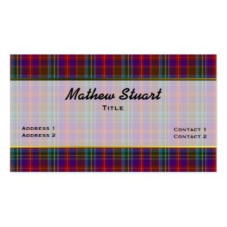 Colorful Stuart Plaid Custom Business Card