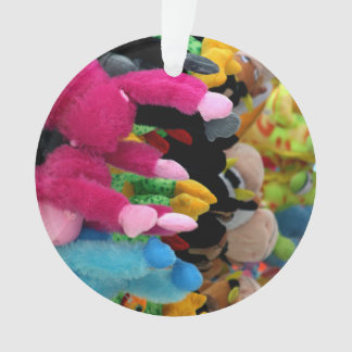 colorful stuffed animals abstract at fair midway
