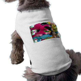 colorful stuffed animals abstract at fair midway doggie tshirt
