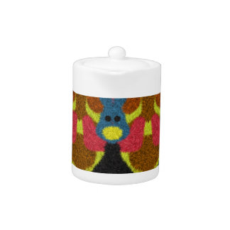 Colorful stylish art teapot