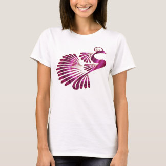 Colorful Stylized Peacock T-Shirt