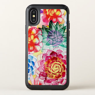 Colorful Succulent Plants Artsy Watercolor Speck iPhone X Case