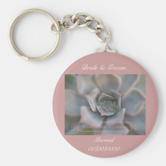 Colorful Succulent Wishing You Happiness Items Keychain