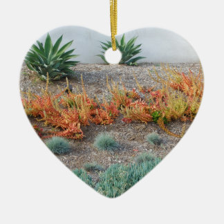 Colorful Succulents Ceramic Ornament