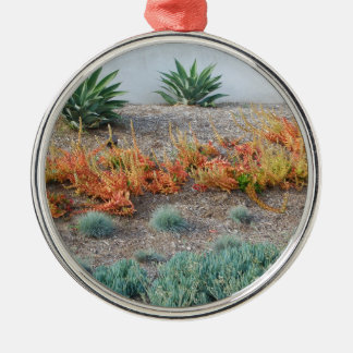Colorful Succulents Metal Ornament