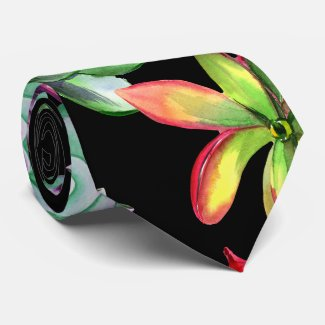 Colorful Succulents Neck Tie