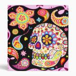 Colorful Sugar Skull Binder