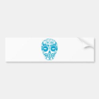 Colorful Sugar Skull Bumper Sticker