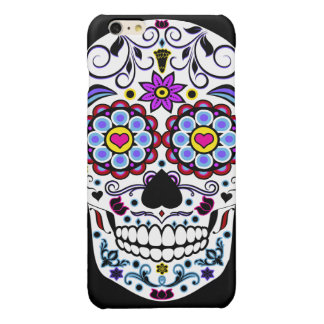 Colorful Sugar Skull Glossy iPhone 6 Plus Case