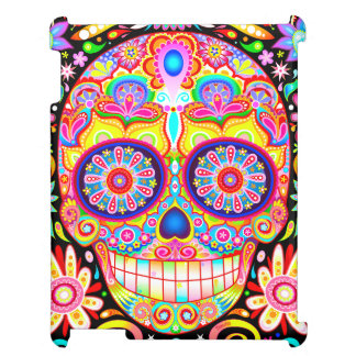 Colorful Sugar Skull iPad Case - Day of the Dead