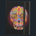 """Colorful Sugar Skull iPad Case with Kickstand<br><div class=""""desc"""">This Sugar Skull iPad Case with Kickstand features a colorful psychedelic calavera sugar skull celebrating Mexico&#39;s Day of the Dead,  or Dia de los Muertos. The funky design for this Sugar Skull Day of the Dead iPad Case with Kickstand is based on the artwork of Thaneeya McArdle.</div>"""