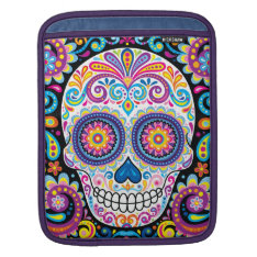 Colorful Sugar Skull Ipad Sleeve - Day Of The Dead at Zazzle