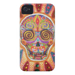 Colorful Sugar Skull iPhone 4/4S Barely There Case Case-Mate iPhone 4 Cases