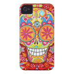 Colorful Sugar Skull iPhone 4/4S Barely There Case Case-Mate iPhone 4 Case