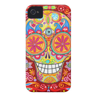 Colorful Sugar Skull iPhone 4/4S Barely There Case iPhone 4 Case-Mate Case