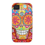 Colorful Sugar Skull iPhone 4/4S Vibe Case Vibe iPhone 4 Case