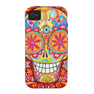 Colorful Sugar Skull iPhone 4/4S Vibe Case Vibe iPhone 4 Covers