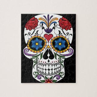 Colorful Sugar Skull Jigsaw Puzzle