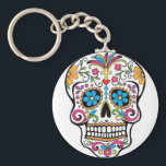 "Colorful Sugar Skull Keychain<br><div class=""desc"">Colorful Sugar Skulls have become a trend in the world today.  They are popular with younger people and some older people as well. Here are some products with some Sweet Sugar... do not worry if you do not &quot;get it&quot;. They are unique gift ideas for Sugar Skull fans.</div>"