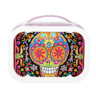 Colorful Sugar Skull Lunchbox - Day of the Dead