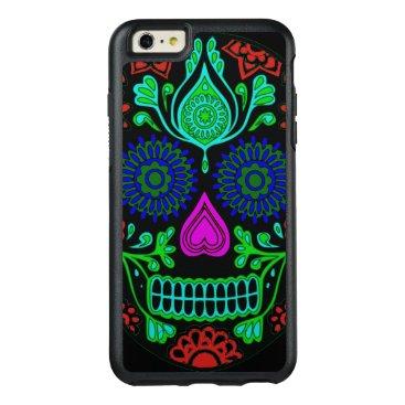 Colorful Sugar Skull OtterBox iPhone 6 Plus Case