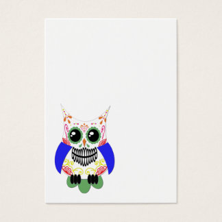 Colorful Sugar Skull Owl Business Card