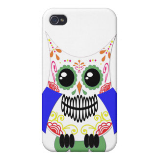 Colorful Sugar Skull Owl Speck Case Cases For iPhone 4