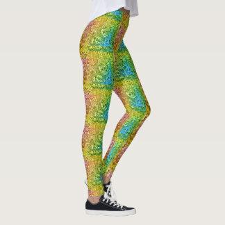 Colorful Sugar Skull Patterned Leggings