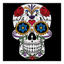 Colorful Sugar Skull Perfect Poster