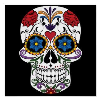 Colorful Sugar Skull Perfect Poster