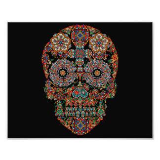 Colorful Sugar Skull Photo Print
