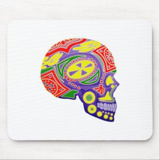 Colorful Sugar Skull Skeleton Mouse Pad