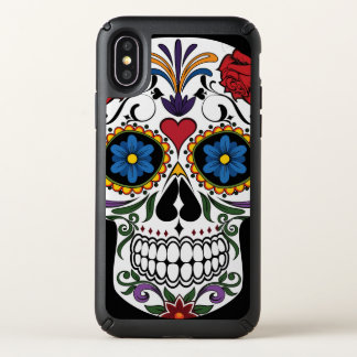 Colorful Sugar Skull Speck Presidio iPhone X Case