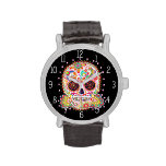 Colorful Sugar Skull Watch - Day of the Dead