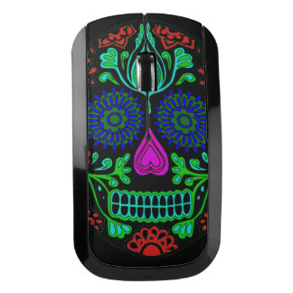 Colorful Sugar Skull Wireless Mouse