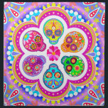 "Colorful Sugar Skulls Cloth Napkins Set of 4<br><div class=""desc"">This set of 4 Sugar Skull cloth napkins features an array of colorful psychedelic calavera sugar skulls celebrating Mexico&#39;s Day of the Dead,  or Dia de los Muertos. The funky design for this Sugar Skull Cloth Napkin Set is based on the artwork of Thaneeya McArdle.</div>"
