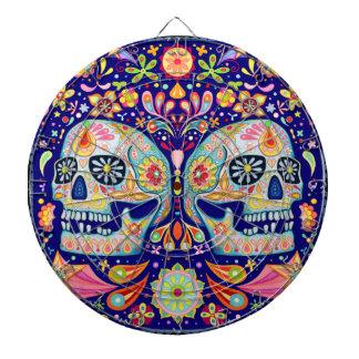 Colorful Sugar Skulls Dartboard Day of the Dead