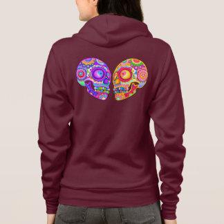 Colorful Sugar Skulls Hoodie - Art by Thaneeya